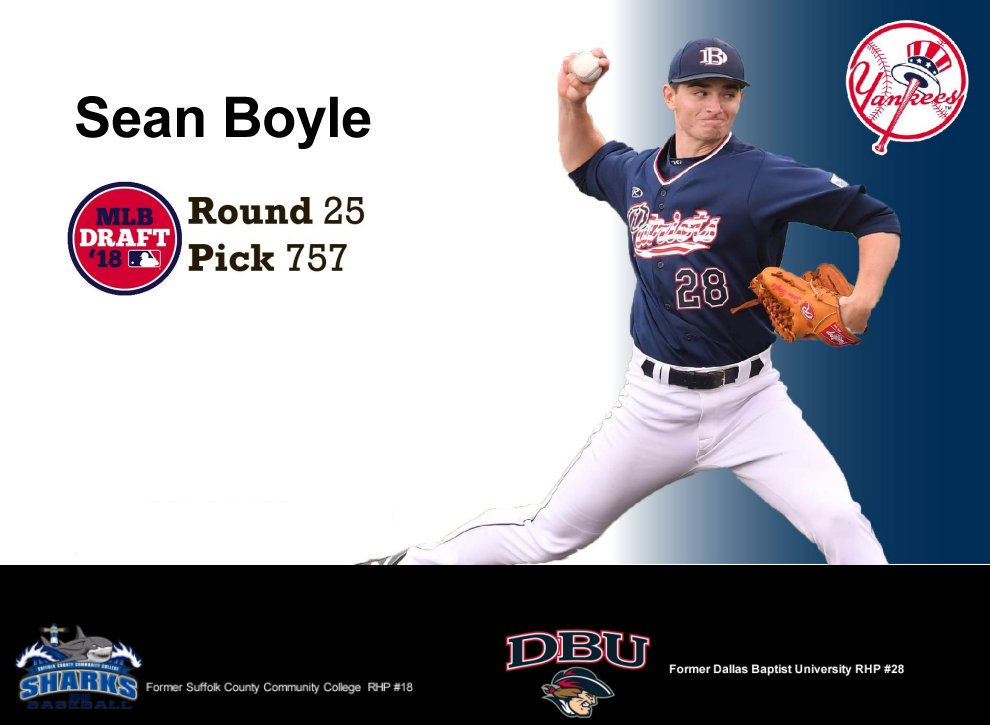 Sean Boyle - Baseball Pitcher - Dallas Baptist University 2016 commit